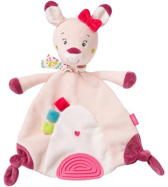 Baby Fehn Sweetheart Schmusetuch mit Softbeisser Rehkitz (Rosa) [Babyspielzeug]
