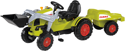 BIG Claas Celtis Traktor mit Schaufel und Anhän...