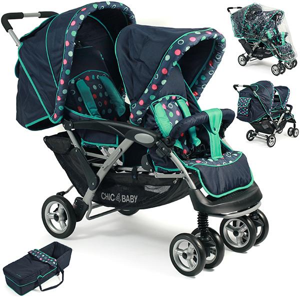Chic 4 Baby Geschwisterwagen Duo (Menta) [Kinderwagen]