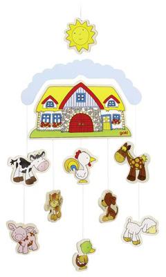 Holzmobile Omas Bauernhof [Babyspielzeug]