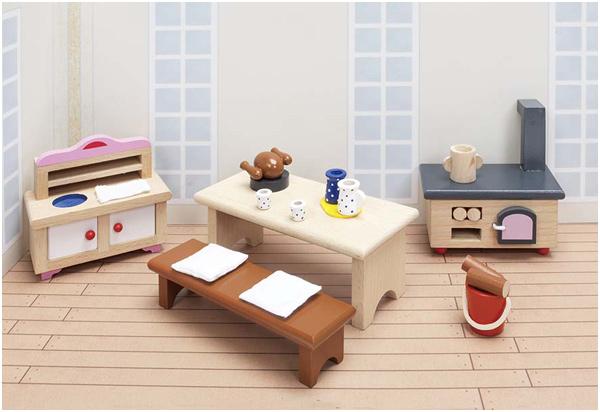 Goki puppenhausmobel schloss kuche kinderspielzeug ab 15 for Küche kinderspielzeug