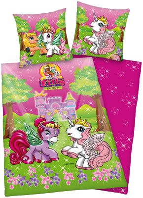 Herding Linon Bettwsche Filly Fairy (Pink-Grn) [Kinderspielzeug &gt; Kinderbettwsche]