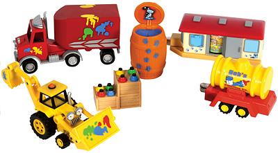 Bob der Baumeister Farbenwagen Set
