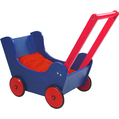 Knorrtoys Holzpuppenwagen Walky (Rot-Blau) [Kinderspielzeug]