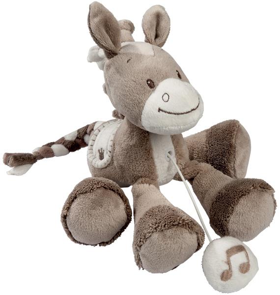 Nattou Max, Noa & Tom Mini Spieluhr Pferd Noa (La Le Lu) [Babyspielzeug]
