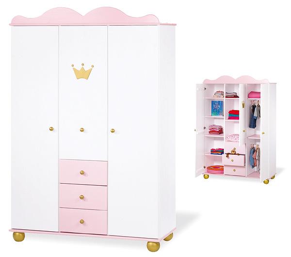 pinolino kleiderschrank pinolino kinderzimmer emilia mit. Black Bedroom Furniture Sets. Home Design Ideas