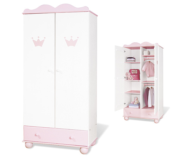 3079 pinolino kleiderschrank prinzessin mary klein eur 624 95 picclick de. Black Bedroom Furniture Sets. Home Design Ideas