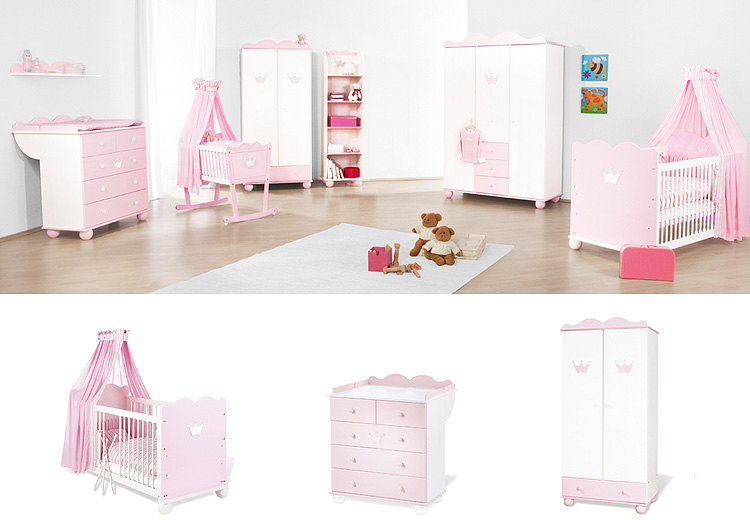 2890 pinolino kinderzimmer prinzessin mary rosa wei ebay. Black Bedroom Furniture Sets. Home Design Ideas