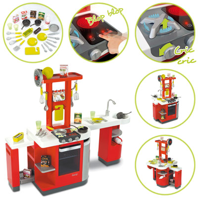 4533 smoby elektronische kinderkuche loft rot weiss neu ebay for Smoby kinderküche