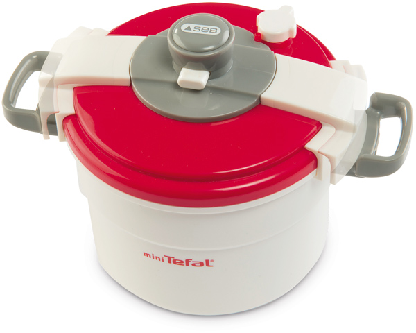 Mini Tefal Schnellkochtopf (Weiß-Rot) [Kinderspielzeug]