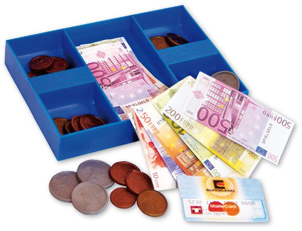 Geldkassette mit Euro Spielgeld [Kinderspielzeug]