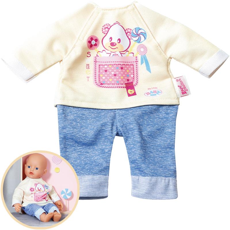 Baby Born My Little Baby Kleidung (Hellgelb-Blau) [Kinderspielzeug]
