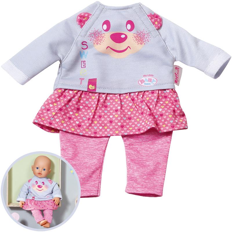 Baby Born My Little Baby Kleidung (Grau-Rosa) [Kinderspielzeug]