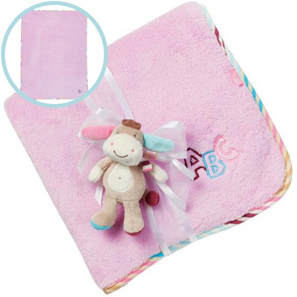 baby kuscheldecke baby kuscheldecke aus bio baumwolle in rosa kuscheldecke f r baby s gerlinde. Black Bedroom Furniture Sets. Home Design Ideas