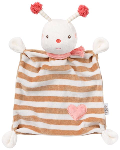 baby-fehn-garden-dreams-schmusetuch-biene-rosa-braun-babyspielzeug-