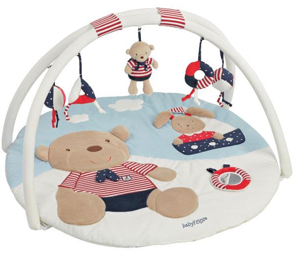 baby fehn ocean club 3 d activity spieldecke teddy wei blau rot bei spielzeug24. Black Bedroom Furniture Sets. Home Design Ideas