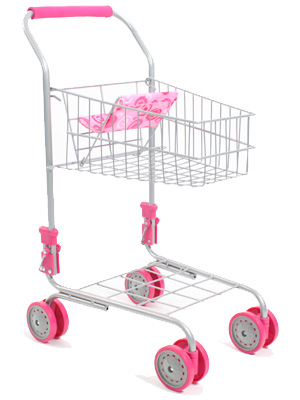 bayer chic 2000 supermarkt einkaufswagen rosa bei. Black Bedroom Furniture Sets. Home Design Ideas