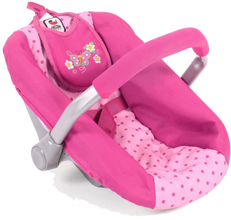 bayer-chic-2000-puppenautositz-mit-latzchen-dots-pink-kinderspielzeug-