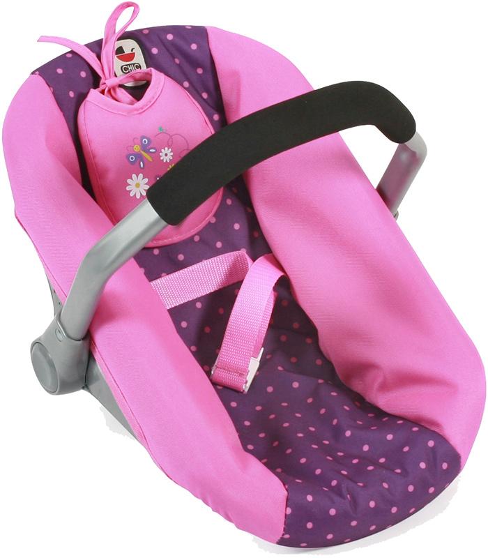 bayer-chic-2000-puppenautositz-mit-latzchen-dots-purple-pink-kinderspielzeug-