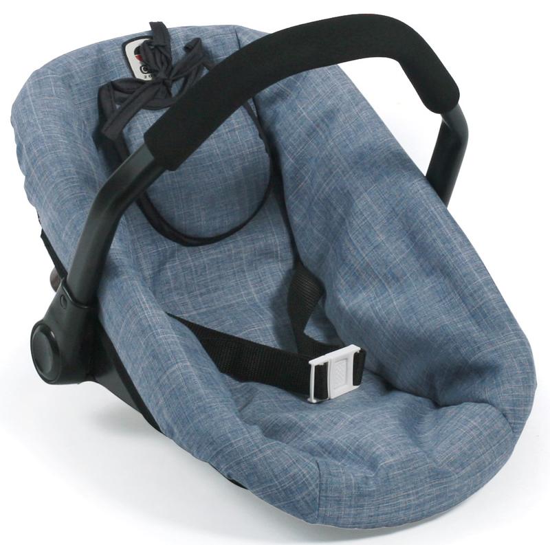 bayer chic 2000 puppenautositz mit l tzchen jeans blue bei. Black Bedroom Furniture Sets. Home Design Ideas