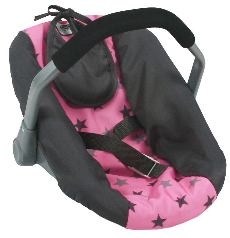bayer-chic-2000-puppenautositz-mit-latzchen-sternchen-grau-rosa-kinderspielzeug-