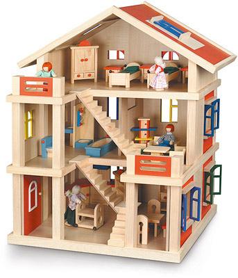 bayer-chic-2000-mobliertes-3-stockiges-puppenhaus-kinderspielzeug-