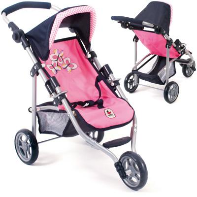 Mini Puppenjogger Lola (Pink Checker) [Kinderspielzeug]