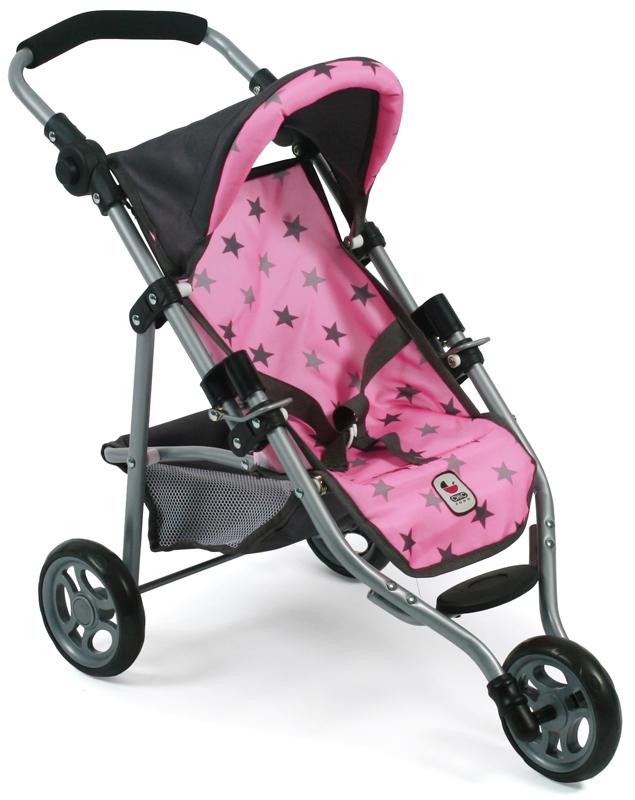 bayer-chic-2000-mini-puppenjogger-lola-sternchen-grau-rosa-kinderspielzeug-
