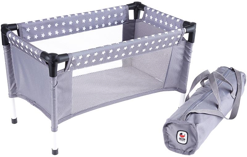 bayer-chic-2000-puppenreisebett-mit-tasche-sternchen-grau-wei-kinderspielzeug-