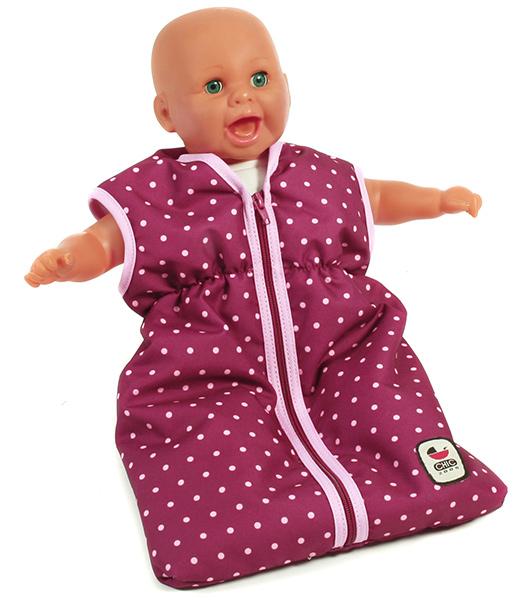 bayer-chic-2000-puppenschlafsack-dots-brombeere-kinderspielzeug-