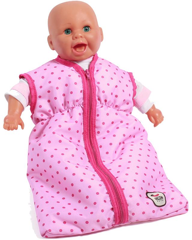 bayer-chic-2000-puppenschlafsack-dots-pink-kinderspielzeug-