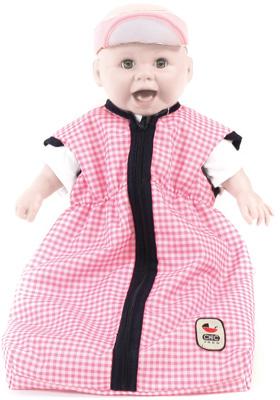 bayer-chic-2000-puppenschlafsack-pink-checker-kinderspielzeug-