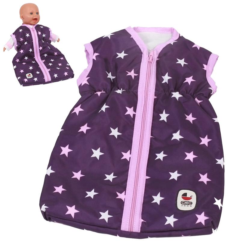 bayer-chic-2000-puppenschlafsack-stars-lila-kinderspielzeug-