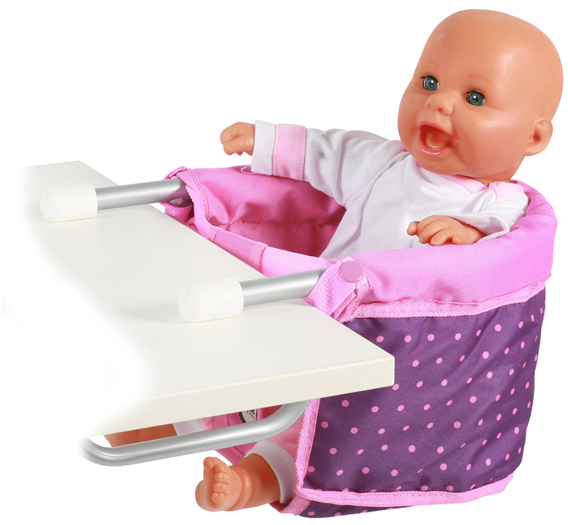 Image of Bayer Chic 2000 Puppen-Tischsitz (Dots Purple-Pink) [Kinderspielzeug]