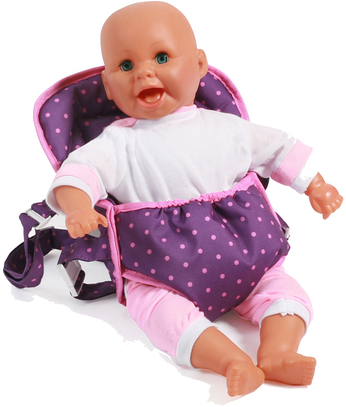 bayer-chic-2000-puppentragegurt-deluxe-dots-purple-pink-kinderspielzeug-