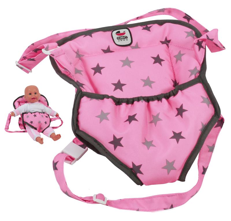 bayer-chic-2000-puppentragegurt-deluxe-sternchen-grau-rosa-kinderspielzeug-