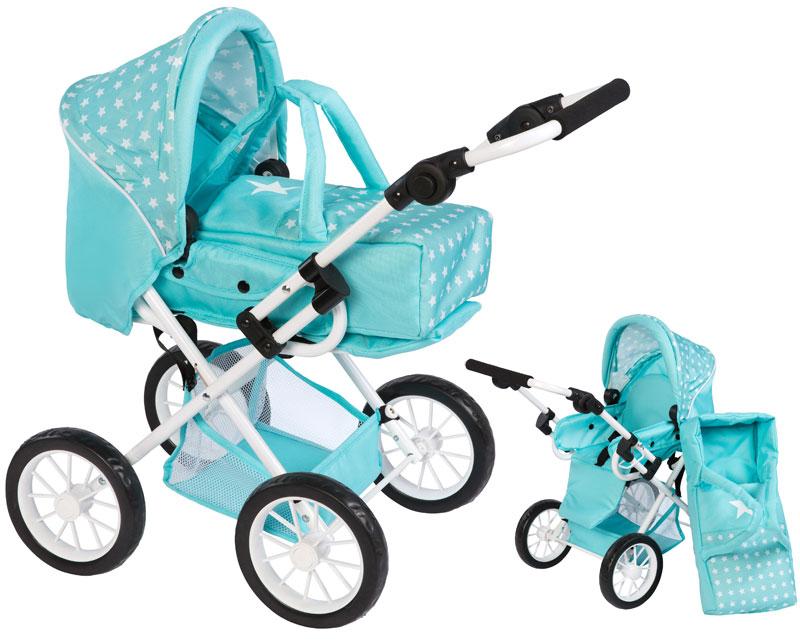 bayer-chic-2000-puppenwagen-leni-sternchen-mintturkis-wei-kinderspielzeug-
