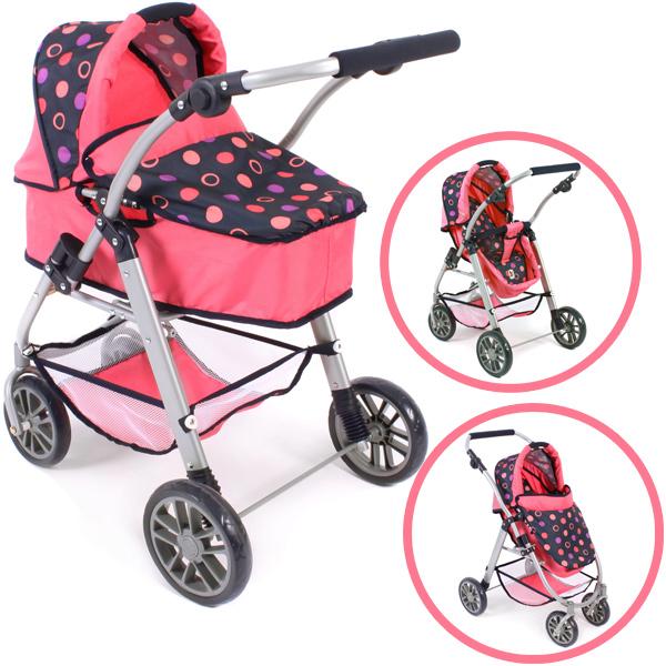 bayer-chic-2000-puppenwagen-emilia-2in1-corallo-kinderspielzeug-