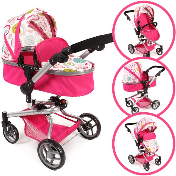 bayer-chic-2000-puppenwagen-yolo-flowers-2in1-pink-wei-kinderspielzeug-