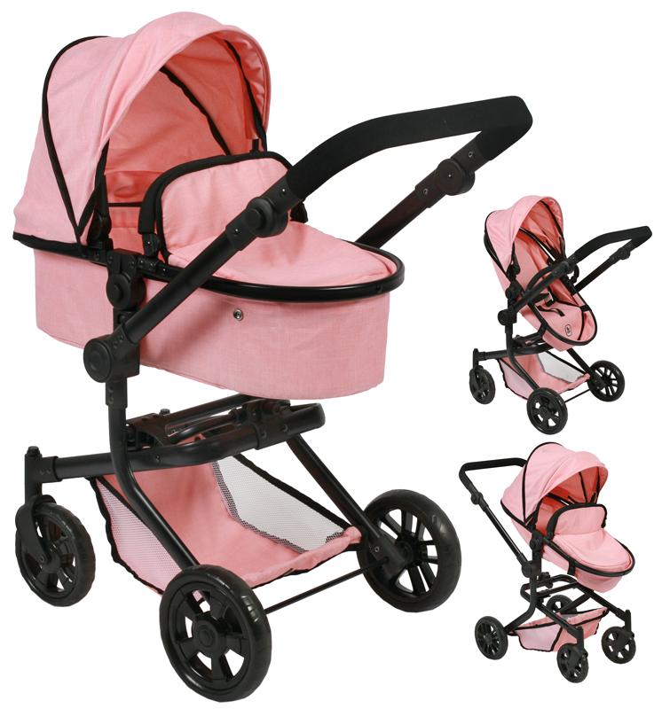 bayer-chic-2000-puppenwagen-mika-2in1-melange-apricot-kinderspielzeug-