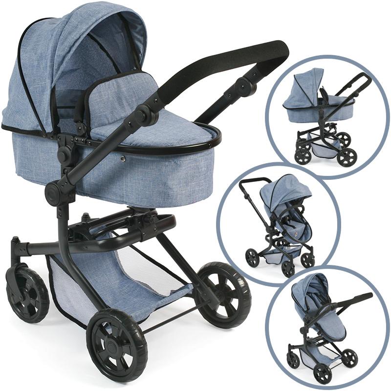 bayer-chic-2000-puppenwagen-mika-2in1-jeans-blue-kinderspielzeug-