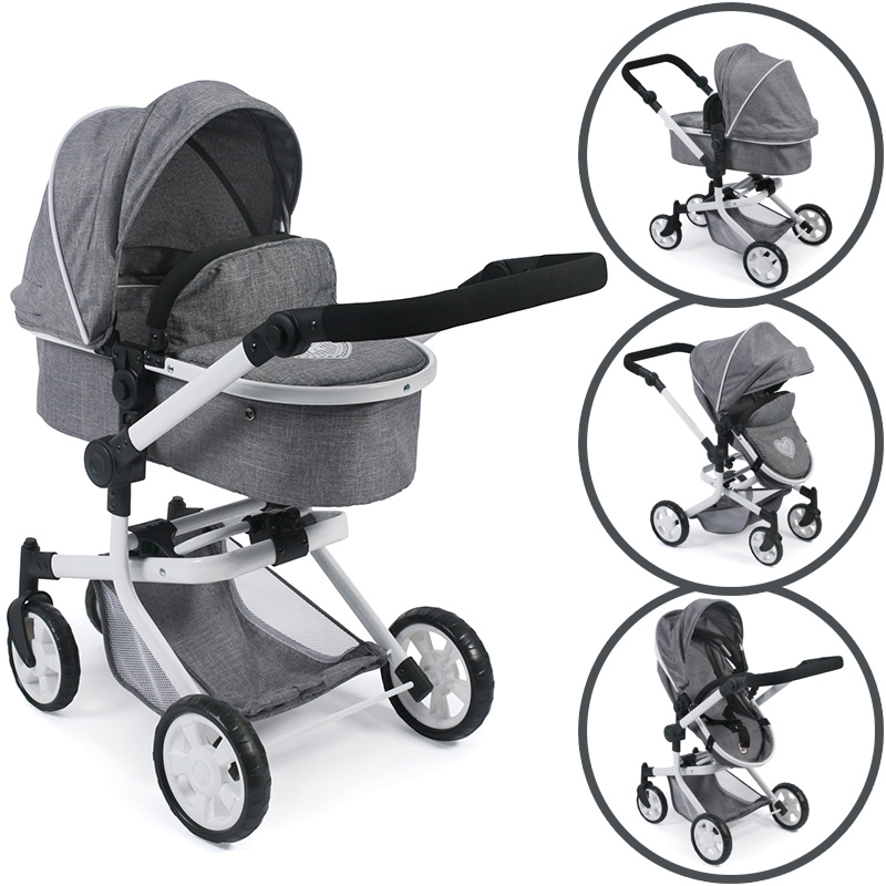 Bayer Chic 2000 Puppenwagen Mika 2in1 (Jeans Gr...
