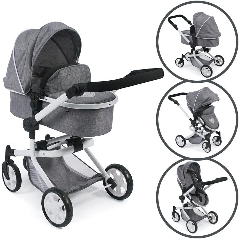 bayer-chic-2000-puppenwagen-mika-2in1-jeans-grey-kinderspielzeug-