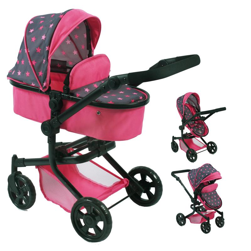 bayer-chic-2000-puppenwagen-mika-2in1-sternchen-pink-kinderspielzeug-