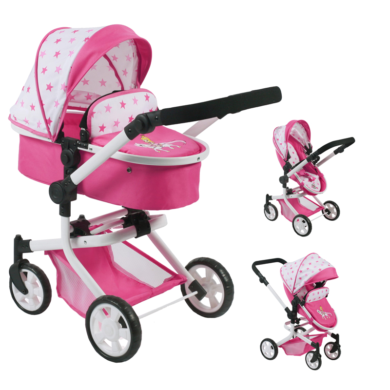bayer-chic-2000-puppenwagen-mika-2in1-pony-princess-kinderspielzeug-
