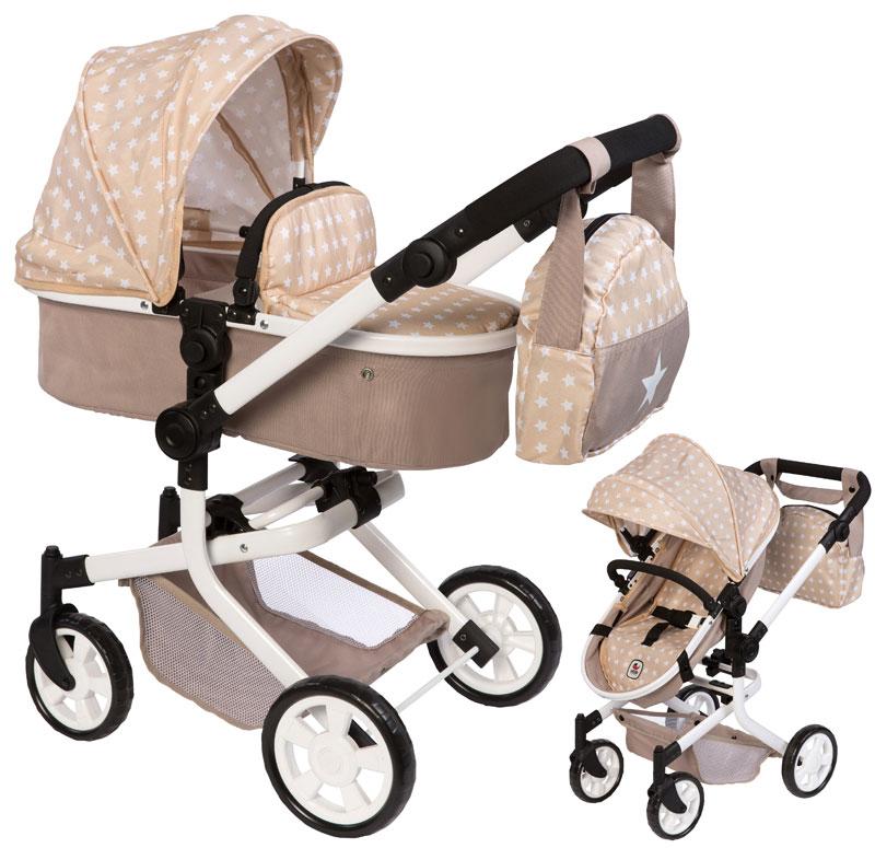 bayer-chic-2000-puppenwagen-mika-2in1-sternchen-mit-wickeltasche-beige-braun-kinderspielzeug-