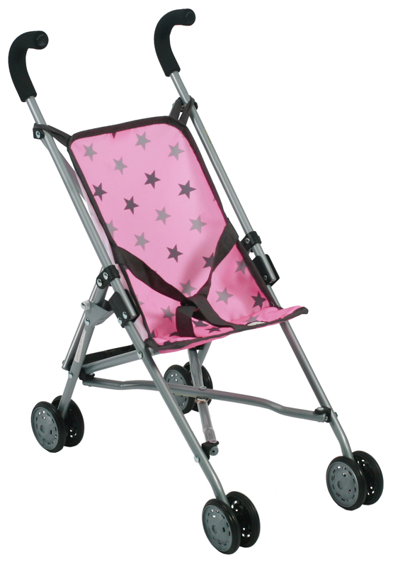bayer-chic-2000-puppenbuggy-roma-sternchen-grau-rosa-kinderspielzeug-