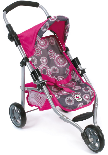 bayer chic 2000 mini puppenjogger lola pink pearls buggy. Black Bedroom Furniture Sets. Home Design Ideas