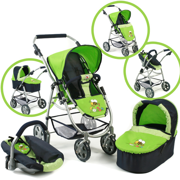 bayer chic 2000 puppenwagen emotion all in 3in1 bumblebee. Black Bedroom Furniture Sets. Home Design Ideas