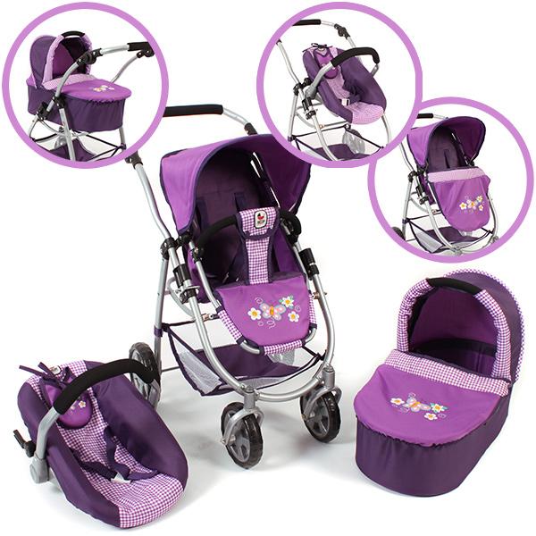 bayer-chic-2000-puppenwagen-emotion-all-in-3in1-purple-checker-kinderspielzeug-